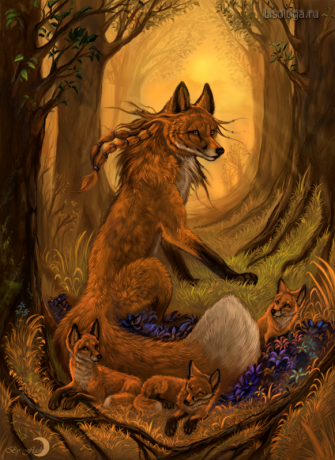 The fire spirit of the forest<br />by FlashW