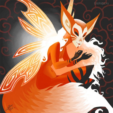 Fox spirit by thundercake